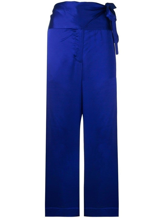 Forte Forte paper bag trousers - Blue