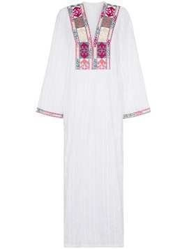 Celia Dragouni celia embroidered cotton maxi dress - White