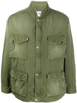 Haikure slogan back jacket - Green