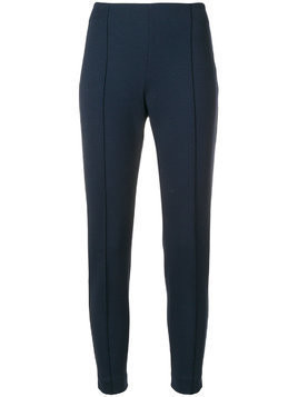 Le Tricot Perugia cropped slim-fit trousers - Blue