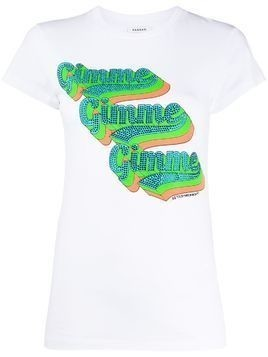 P.A.R.O.S.H. Gimme embellished T-shirt - White