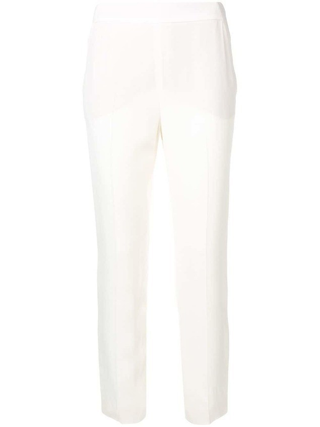 LANVIN cropped mid rise trousers - Neutrals