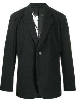 Issey Miyake Men single-breasted fitted blazer - Black