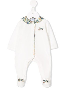 Absorba floral collar pajamas - White