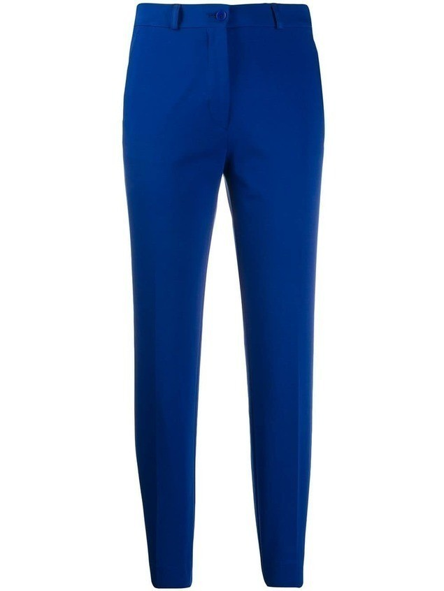 Etro cropped skinny trousers - Blue