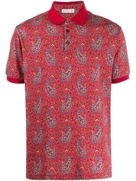 Etro short-sleeved paisley polo shirt - Red