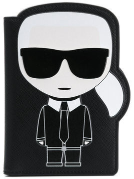Karl Lagerfeld K/Ikonik passport holder - Black