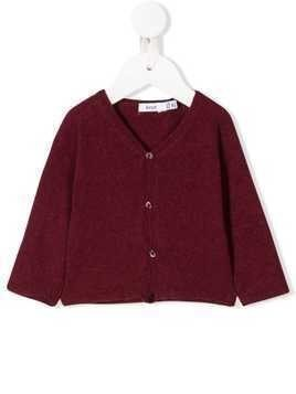 Knot long-sleeve fitted cardigan - Red