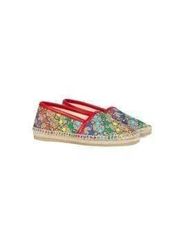 Gucci Kids Children's GG rainbow star espadrille - NEUTRALS