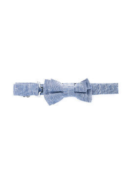 Harmont & Blaine Junior zig-zag pattern bow tie - Blue