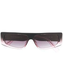 Vivienne Westwood rectangle-frame flat top sunglasses - PINK