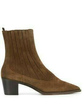 L'Autre Chose block-heel point toe boots - Brown