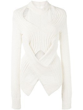 Dion Lee twisted knit sweater - White