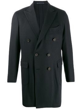 Bagnoli Sartoria Napoli double breasted coat - Blue