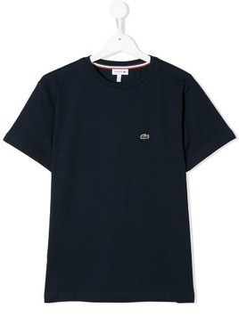 Lacoste Kids TEEN embroidered logo T-shirt - Blue