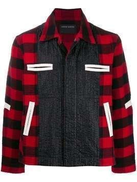 Craig Green contrast panel check jacket - Black