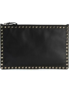 Valentino - 'Rockstud' clutch - Damen - Calf Leather - One Size - Black