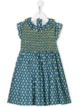 Cashmirino Laura smocked dress - Yellow