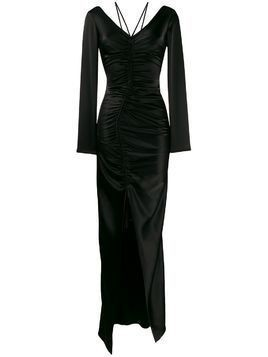 David Koma ruched fitted maxi dress - Black