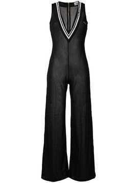 Gcds lamé sheer jumpsuit - Black