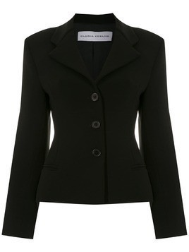 Gloria Coelho sigle breasted blazer - Black