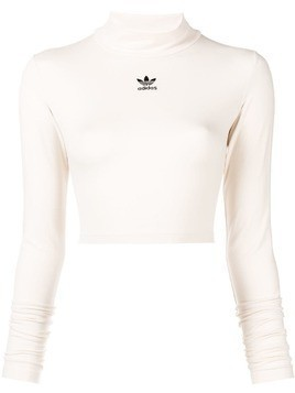 Adidas cropped jersey sweater - Nude & Neutrals