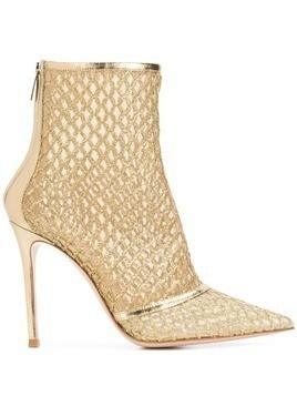 Gianvito Rossi pointed ankle boots - Gold
