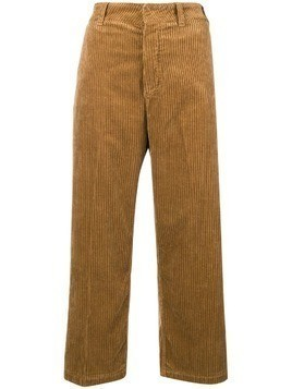 Department 5 flared corduroy trousers - Nude & Neutrals