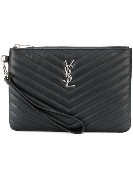 Saint Laurent Monogram wristlet pouch - Black