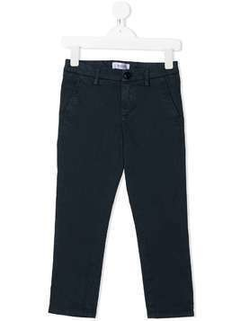 Dondup Kids mid-rise straight chinos - Blue