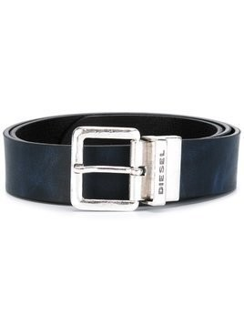 Diesel branded buckle belt - Blue