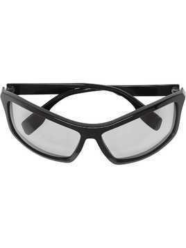 Burberry Eyewear Wrap Frame Sunglasses - Black