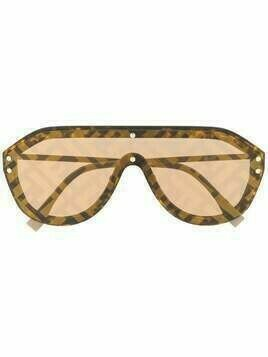 Fendi Eyewear Fabulous printed sunglasses - Brown