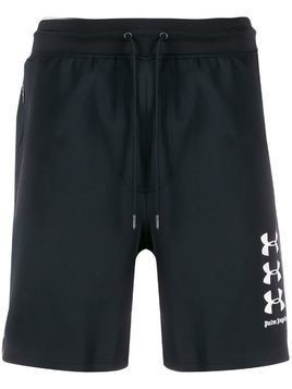 Palm Angels x Under Armour logo shorts - Black