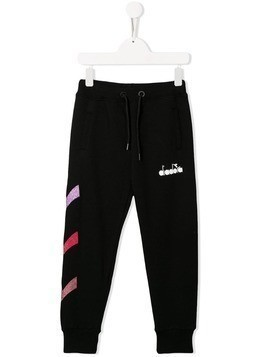 Diadora Junior embellished track trousers - Black