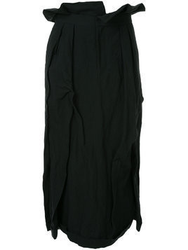 Aganovich long pleated skirt - Black