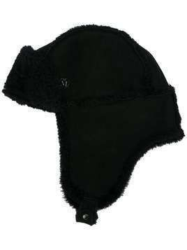 Maison Michel shearling-lined hat - Black