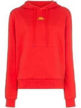 Charm's X Kappa flame print stretch-cotton hoodie - Red