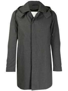 Mackintosh DUNOON HOOD Teal Grey RAINTEC Cotton Short Hooded Coat GM-1004FD
