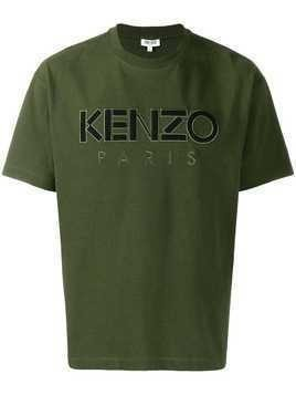 Kenzo embroidered logo T-shirt - Green