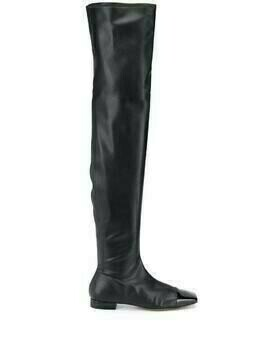 L'Autre Chose knee-high square-toe leather boots - Black