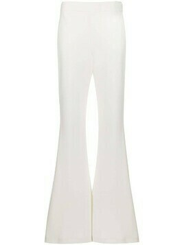 Ellery flared floor-length trousers - White