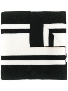 Maison Margiela striped scarf - Black