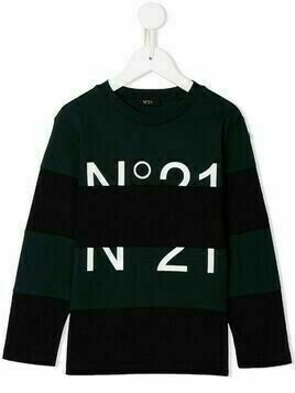Nº21 Kids logo print T-shirt - Black