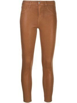 L'Agence cropped mid-rise trousers - Brown