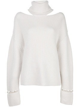 Alice+Olivia Lara open-shoulder jumper - White