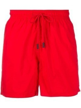 Etro drawstring swim shorts - Red