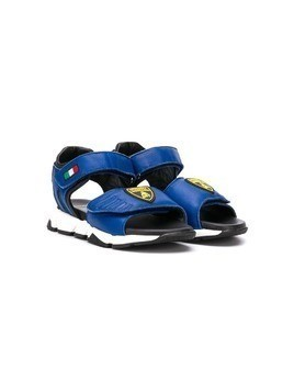 Bumper touch-strap sandals - Blue
