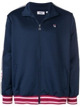 Fila logo trim track jacket - Blue