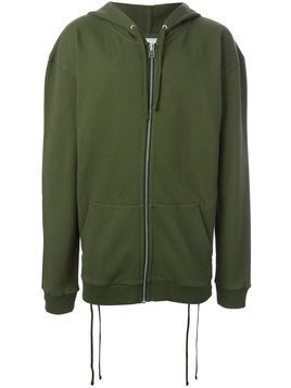 Faith Connexion lace-up side hoodie - Green